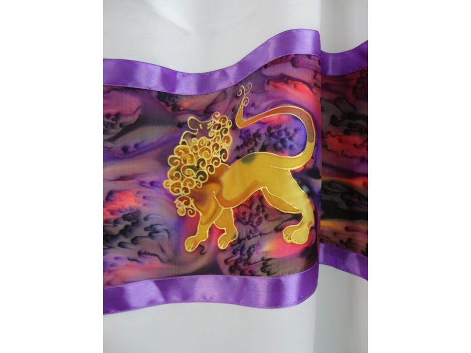 Purple Lion of Judah Tallit Prayer Shawl by Galilee Silks