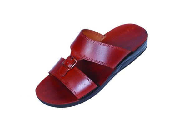 Quality leather Slip on sandals with Buckle - Eilat