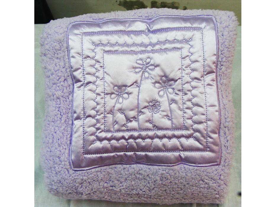 Satin & Polyester Bokla Embroidered Baby blanket, Pinat Eden