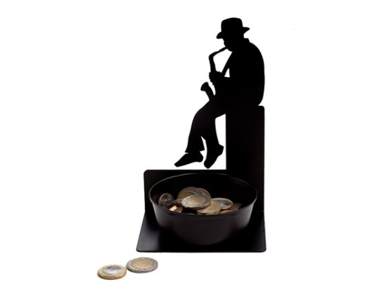 Saxophonist Coin Holder, Home Accessories