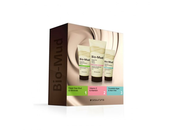 Sea of Spa Dead Sea Cosmetics Bio Mud 3 Facial Care Products Kit