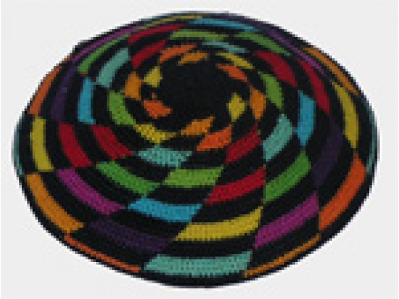 Set of 2 Hand knitted Colored Kippah