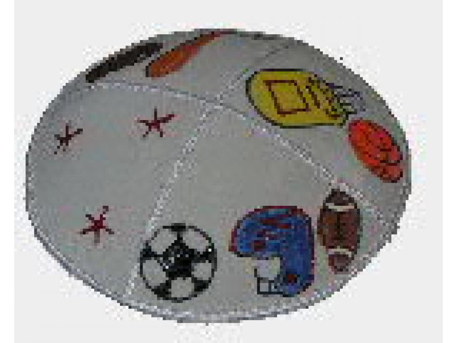 Set of 2 Suede Sport Kippah for Children