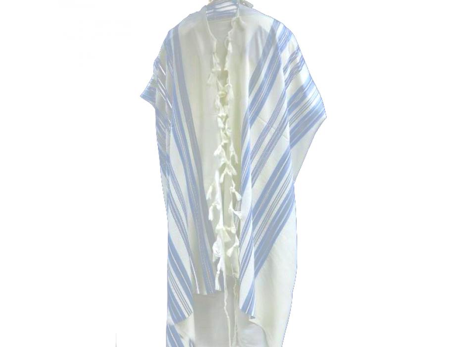 Shades of light blue Mishkan Hatchelet Tallit Prayer Shawl