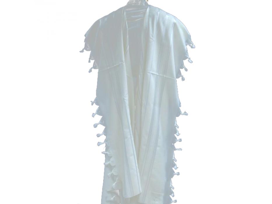 Shiny and Gold Stripes Prima AA Wool, Tallit Prayer Shawl