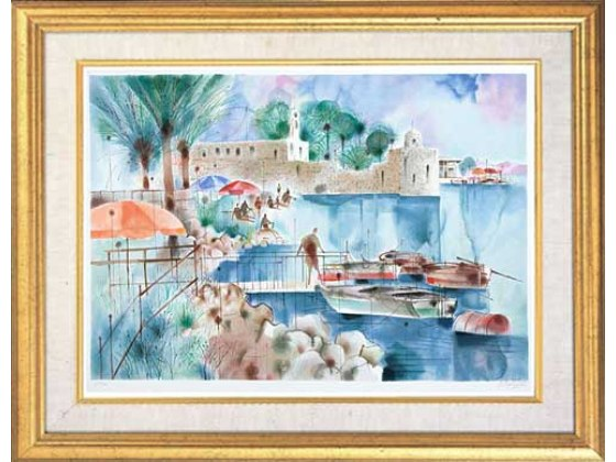 Shmuel Katz - Ancient fort - Israeli Art