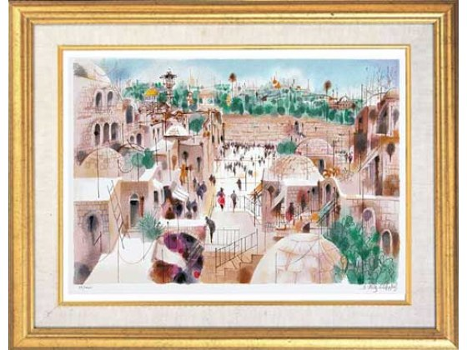 Shmuel Katz - The Jewish Quarter - Israeli Art