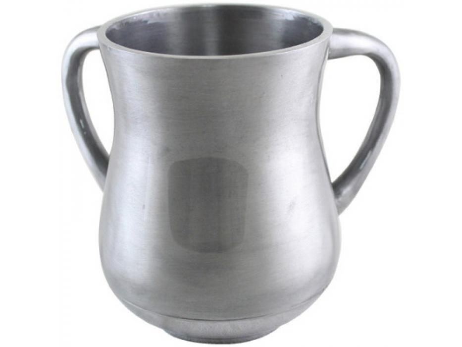 Silver Aluminum Elegant Washing Cup