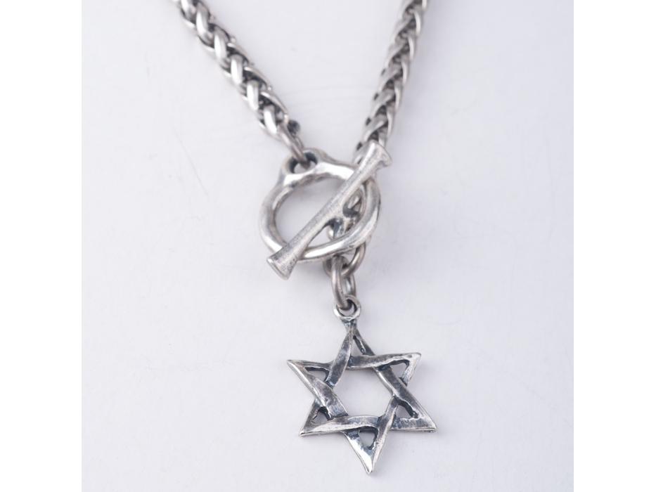 silver star of David pendant