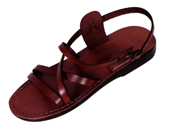Slim Crossover Adjustable Biblical Leather Sandals  - Hermon