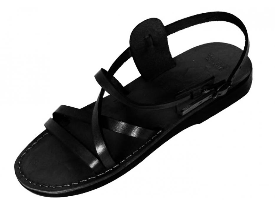 Slim Crossover Adjustable Handmade Leather Sandals  - Hermon