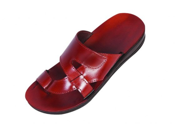 Slip on leather sandals with a difference - Gad