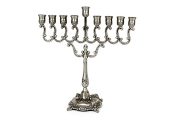Small Silver Hanukkah Menorah, Menorahs for sale