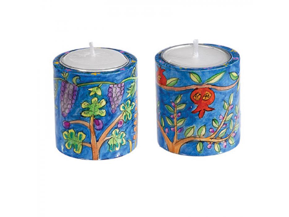 Small Yair Emanuel Round Candlesticks 7 Species