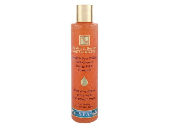 Soapless Face Peeling with Glycerin Orange Oil, Dead Sea Minerals