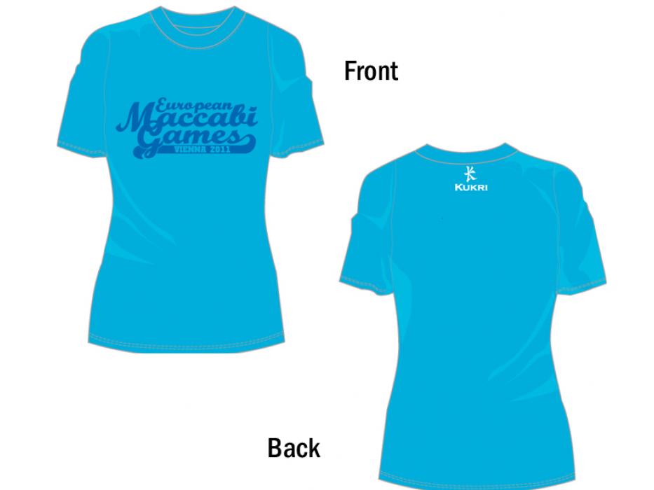 Solid Ladies Cut T-Shirt for 2011 European Maccabi