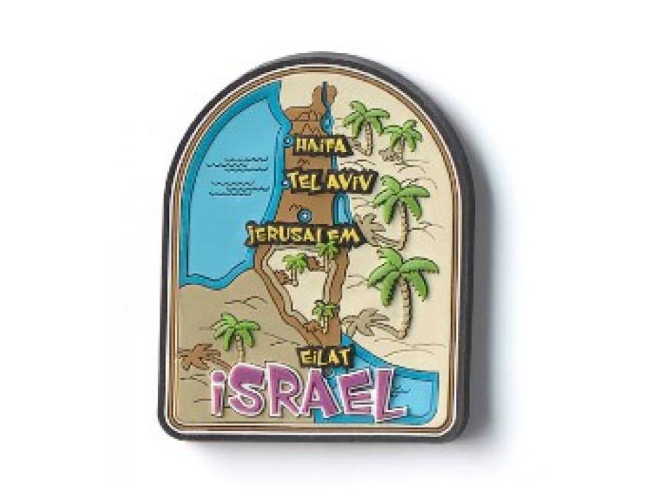 Souvenirs from Israel, Israel Map Fridge Magnet