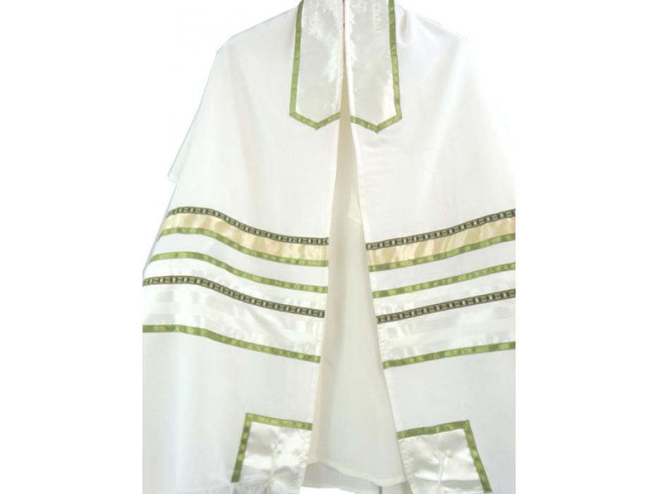 Spring Green Tallit Prayer Shawl by Galilee Silks