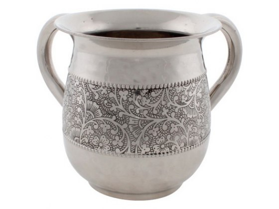 Stainless Steel Flowers Design Washing Cup