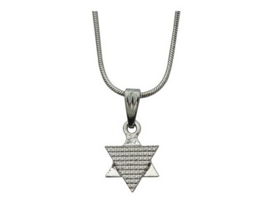 Star of David Rhodium Pendant