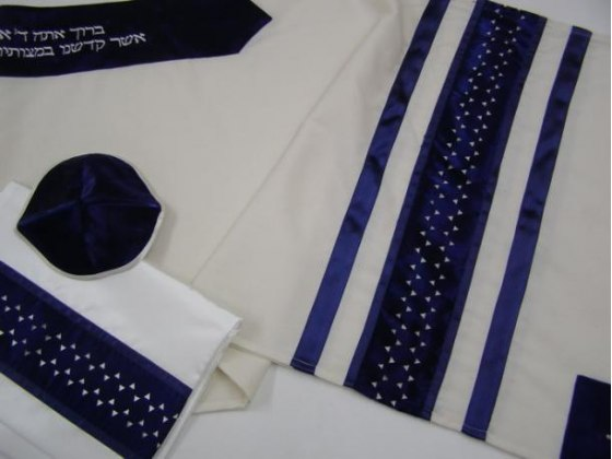 Star of David Wool, Tallit Prayer Shawl