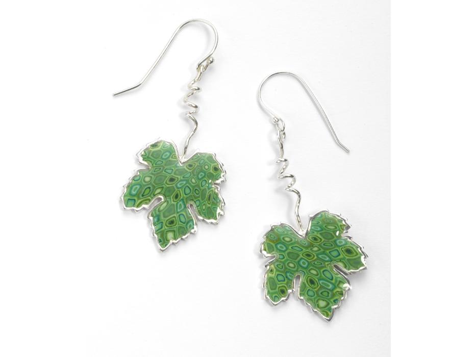 Grape Leaf Earrings by Adina Plastelina