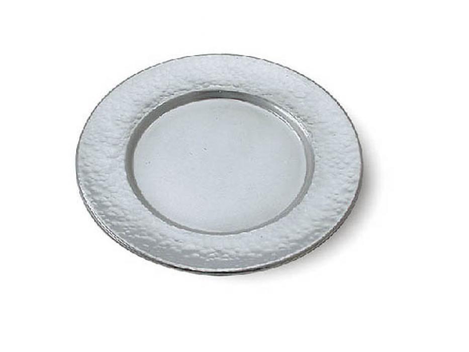 Hammered Sterling Silver Saucer