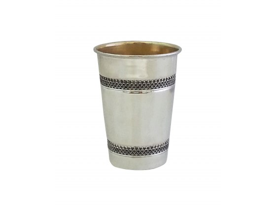 Sterling Silver Kiddush Cup Intricate Design