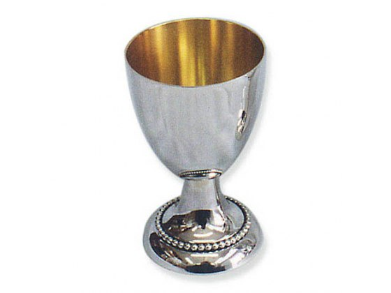 Sterling Silver Pearl Band on Base, Kiddush Cup