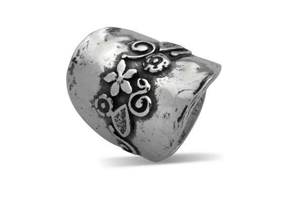 Sterling Silver Rings with Flowers Design