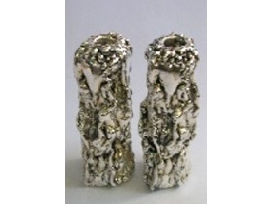 Sterling Silver Shabbat Candlesticks with Wrinkles