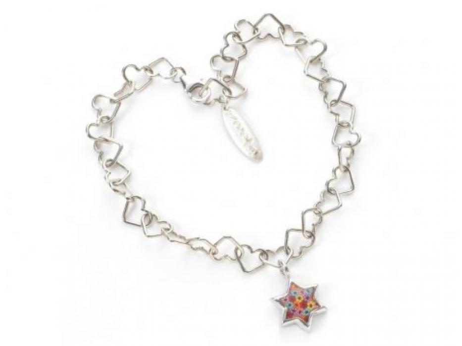 Sterling Silver Star of David Bracelet by Adina Plastelina