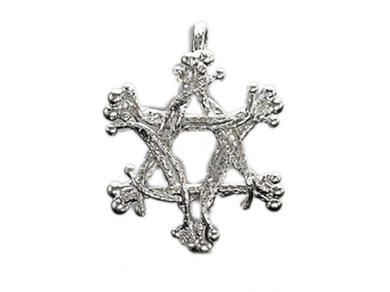 Sterling Silver Star of David Pendant, Tassel Points - Idit Jewelry