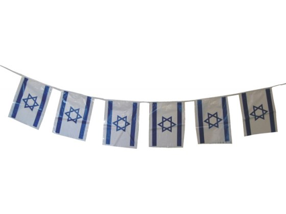 A String of Israel Flags