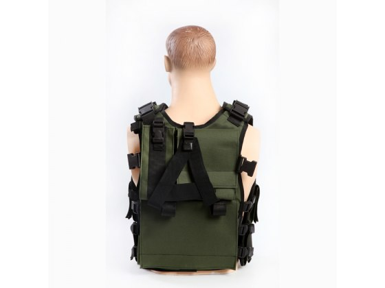 Tactical Vest for Combat Fighters, Military Gear - Back View