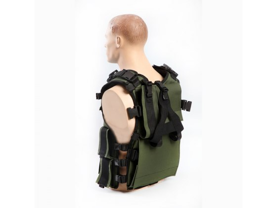 Tactical Vest for Combat Fighters, Military Gear - Side View