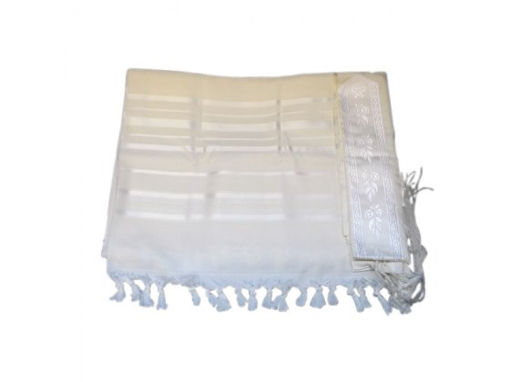 Tashbetz non Slip Wool with White Stripes, Tallit