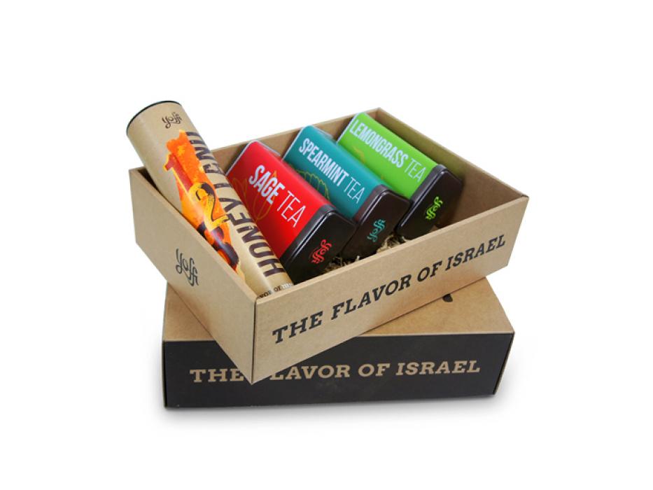 Taste of Israel Gift Box Flavored Tea and Honey