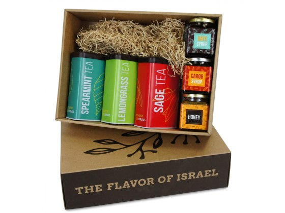 Taste of Israel Gift Box Flavored Tea and Syrups