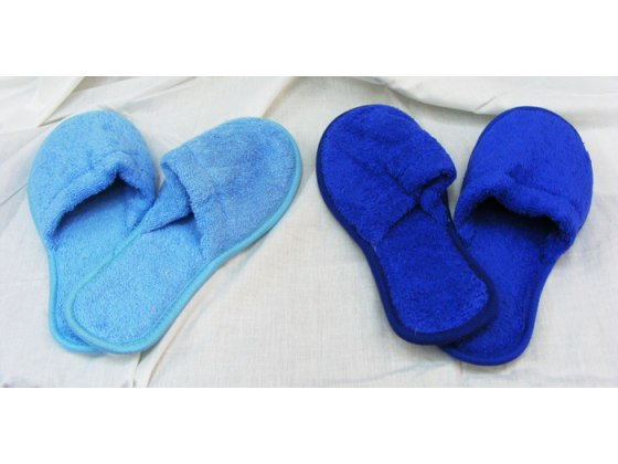 Terrycloth Slippers from Pinat Eden (One Size)