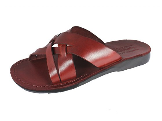 Thin and Wide Comfortable kandmade Leather Sandals - Eviatar