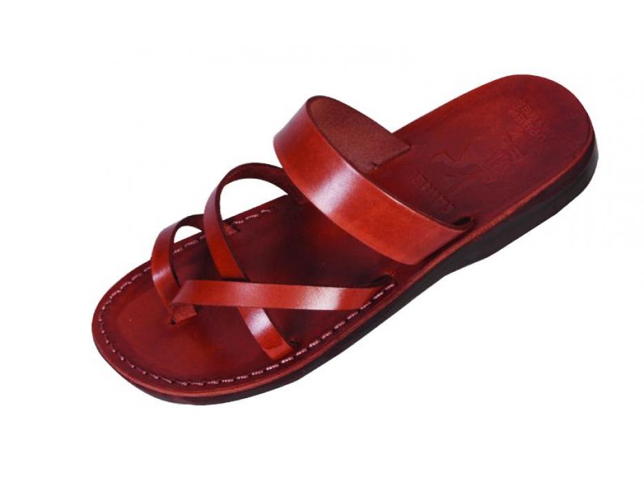 Classic Slip-on Sandals with Velcro Closure   - Benjamin
