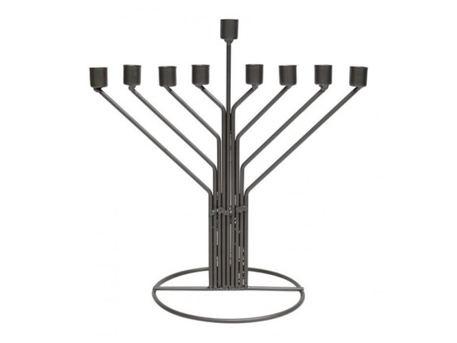 Tin Chabbad Style Simple Hanukkah Menorah