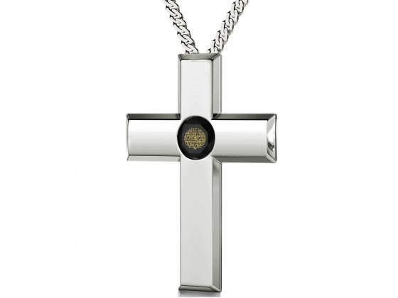 The Lord's Prayer Sterling Silver Cross