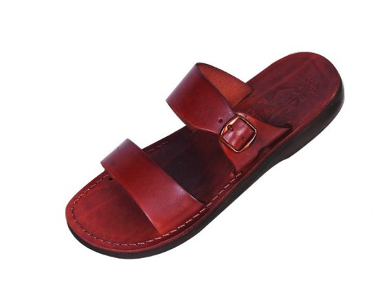 Handmade Leather Sandals with Buckle - Benjamin
