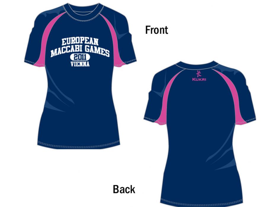 Two Toned Ladies Cut T-Shirt for 2011 European Maccabi