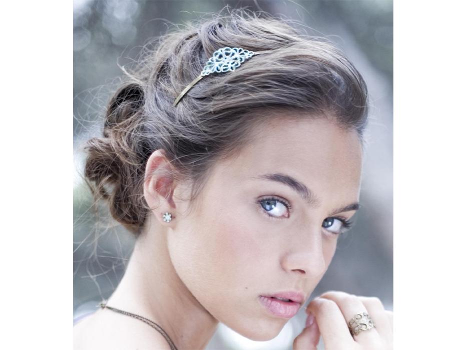 Verdigris Patina Filigree Headband - Shlomit Ofir Jewelry