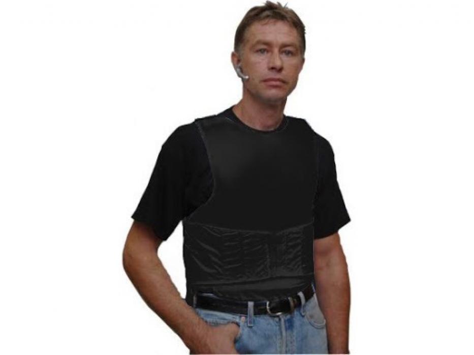 Black Bullet Proof Vest Ultralight Concealed Level IIA