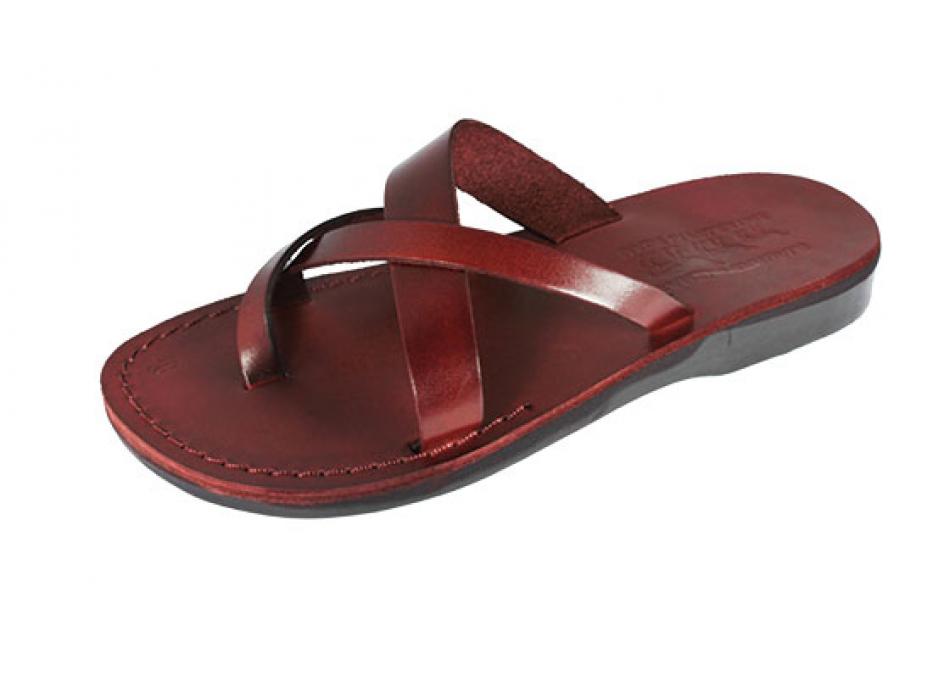 Weave Design Slip-on Leather Biblical Sandals - Ariel