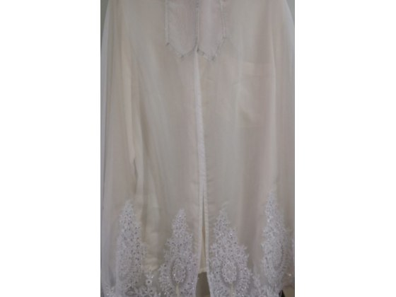 Galilee Silks White Lacy Tallit Prayer Shawl